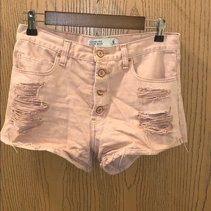 High rise Abercrombie & Fitch pink shorts!